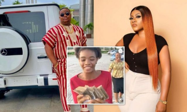 Destiny Etiko sends warm appreciation to Cubana Chief Priest for gifting her daughter, Chinenye Eucharia a cool N200K (₵2,950)