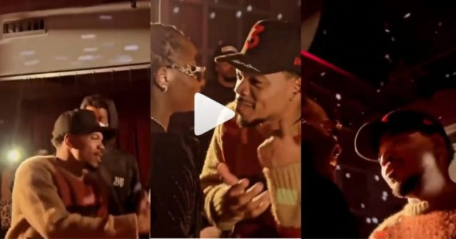 ChanceTheRapper Spotted At Tems' Concert In The USA Showing Support (Video)