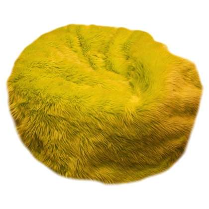 Ghế lười lông thú màu vàng