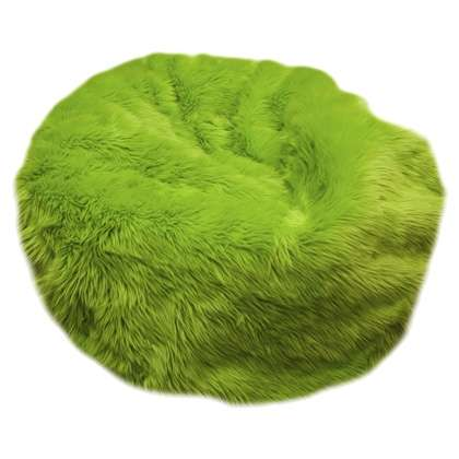 Ghế lười lông thú màu xanh