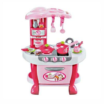 Set de joacă bucătărie Little Chef roz