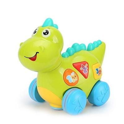 Jucărie dinozaur interactiv bebeluși cu melodii și lumini
