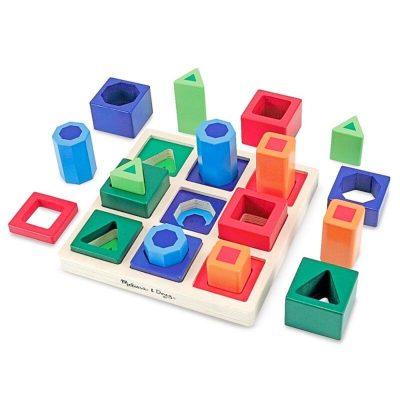 Jucărie Montessori sortator cu forme pe tablă Melissa & Doug