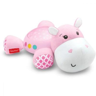Proiector bebeluși hipopotam roz Fisher Price