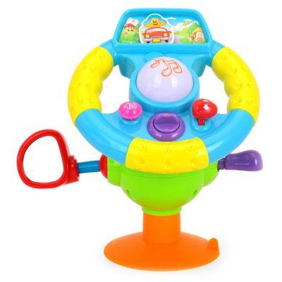 Jucărie volan interactiv bebeluși cu ventuză