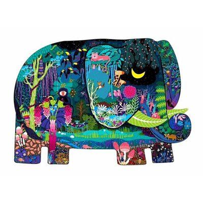 Puzzle formă neregulată Elefantul Fermecat