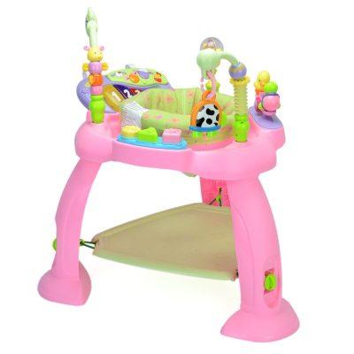 Centru de activități bebeluși cu jumper – roz