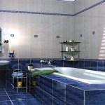 Моем плитку в ванной, если плитка светлая.