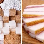 Кто виноват в увеличении массы нашего тела-жир или сахар.