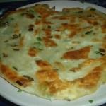 Жаренные китайские лепешки с зеленью. Постные.