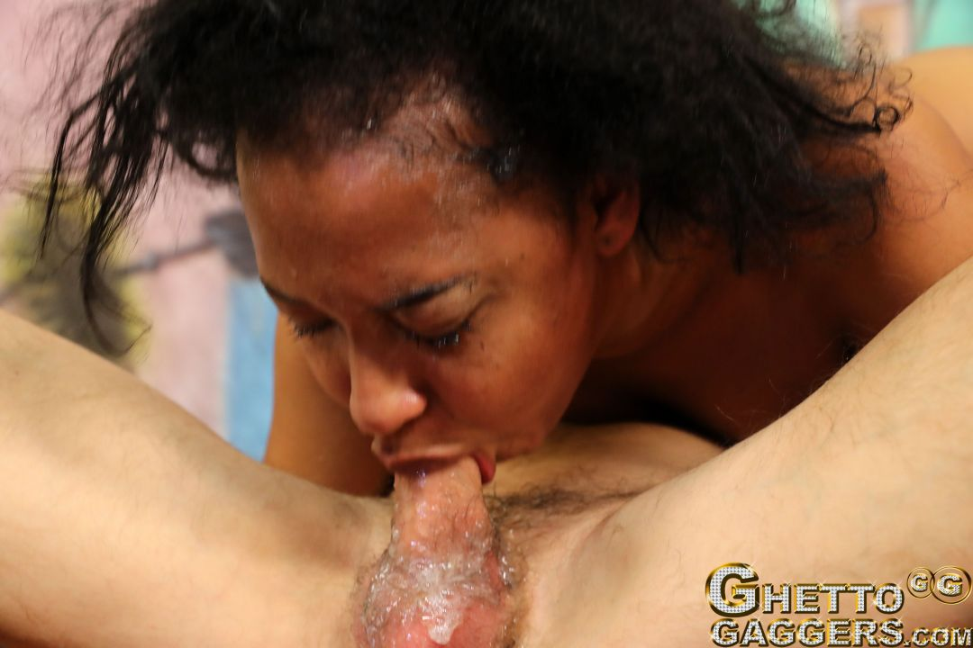 Ghetto Whore Face Fucked on Ghetto Gaggers