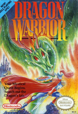 Dragon Warrior NES game cover