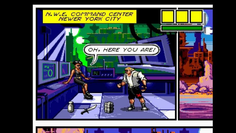 Top 3 Underrated Sega Genesis Games - Comix Zone cutscene