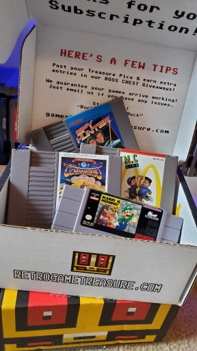 Retro Game Treasure Review - my second Retro game loot crate contents