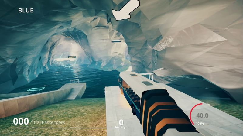 Snakeybus on Switch - through an ice cavern