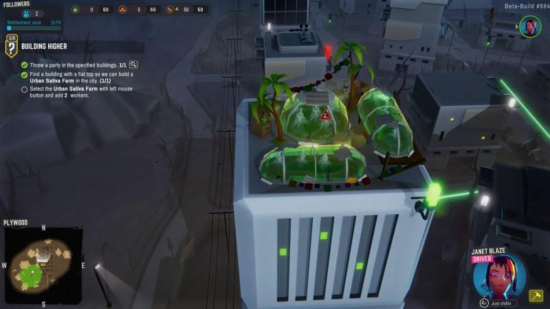 Blaze Revolutions review screenshot rooftop garden