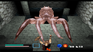 Ehrgeiz God Bless the Ring PS1 monster battle