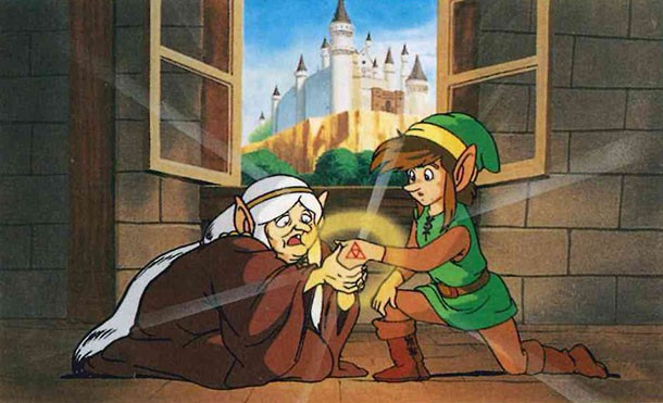 Zelda 2: The Adventure of LInk - Link and Impa