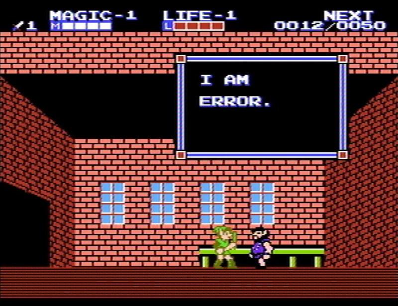 Zelda 2 - I am Error