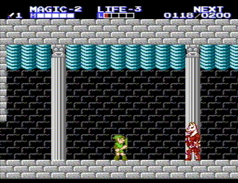 Zelda 2 bosses - Horsehead screenshot