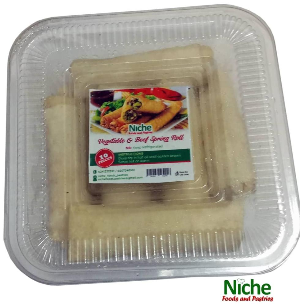 beef and veggie spring roll