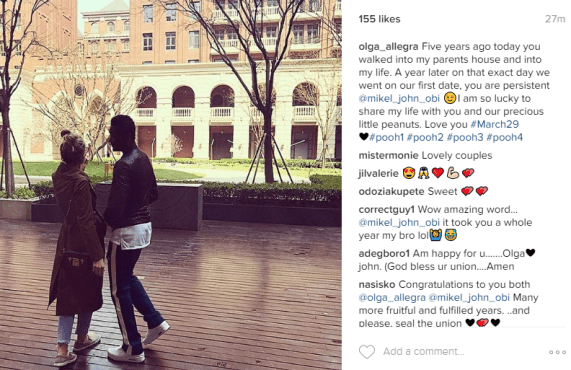 5 Years Ago! Mikel Obi's Partner, Olga Recollects How She Met Him At Her Father's House