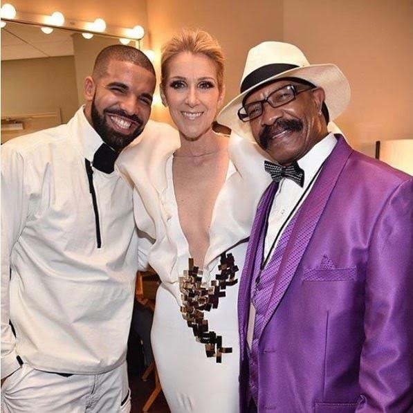Lovely Photos Of Drake, His Dad And Celine Dion At The 2017 Billboard Awards
