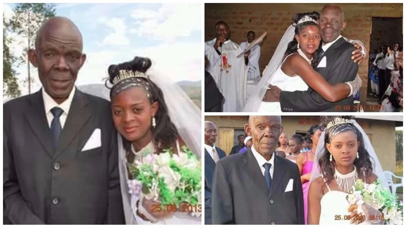 70-Year-Old Man Ties The Knot With 18-Year-Old Lady