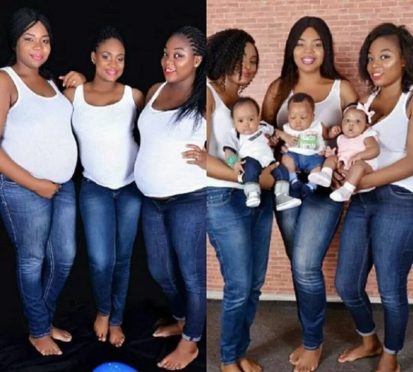 Wow: Meet These Three friends Who Become Mothers At The Same Time