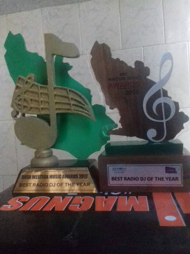 DJ Magnus retains his crown as Best Radio DJ in the Western Region at the just ended Western Music Awards