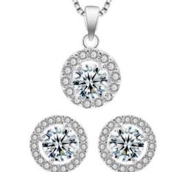 Set bijuterii Delicat Circle Zirconia