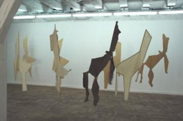 Installation, exposition Un peu de temps à l'état pur, La vitrine Lac&s, Limoges, 2005