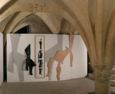 Installation, exposition se retourner, Espace culturel F. Mitterand, Beauvais, 2006 photographe:RaphaëlChipault