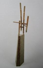Sculpture, 1990, 175 x 42 x 38 cm, bois, cire (collection Musée d'art moderne et contemporain de Saint-Etienne)