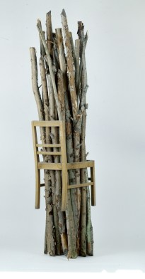 Sculpture, 1991, 208 x 42 x 45 cm, bois