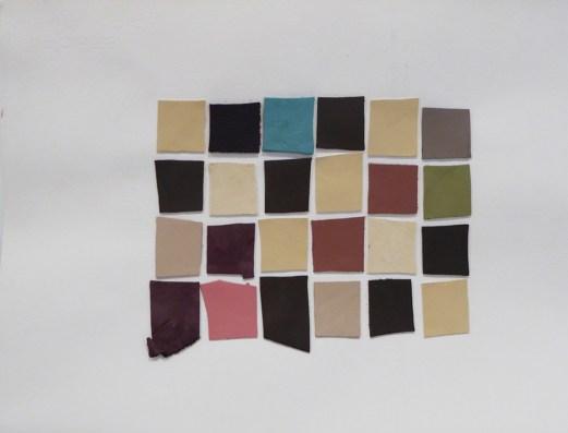 16-Motifs répétitifs, 2015-2016, Cuir sur papier, 28 x 38 cm