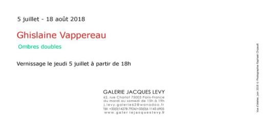 Ghislaine Vappereau, exposition galerie Jacques Lévy du 5 juillet au 18 août 2018