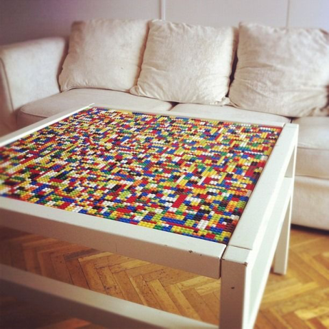 Want to get super meta? Make this table your home's designated LEGO-building spot. Warning: Pieces may seem to disappear and blend into the the surface. See more at Homedit »