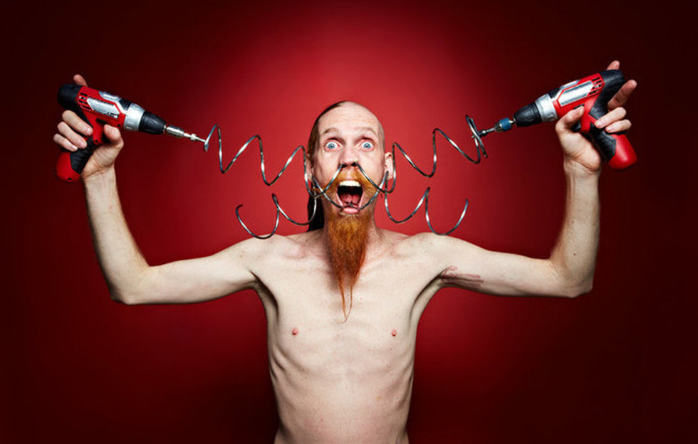 Andre Stanton metal coil nose Guinness World Records