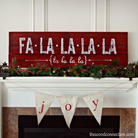 My favorite DIY Christmas Decor. DIY Christmas Decor Ideas. Celebrate your favorite Christmas carol by displaying the lyrics atop your mantle. See more at The Wood Connection »