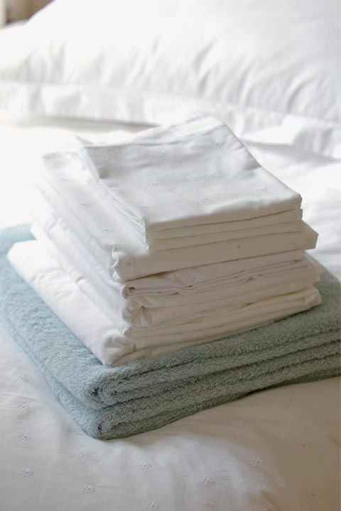 Think about it: You probably spend close to half of your life in your bed, lying on top of your sheets. Germs, sweat and body oils accumulate quickly, which is why Forte recommends washing them every week if possible.