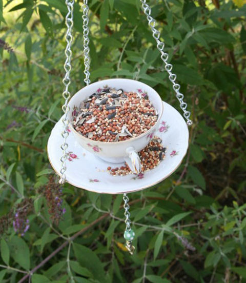 Don't toss that chipped china yet. With the right hardware and some strong glue, you'll have a darling display for inviting songbirds to stop by for a cuppa.Get the tutorial.
