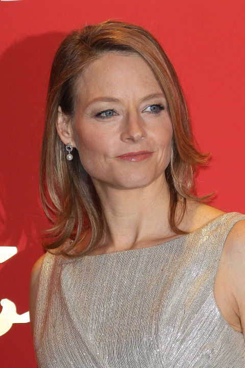 Thin hair can quickly become flat and lifeless, so a flipped-out shaggy bob like the one Jodie Foster wears is a great way to add volume and movement. When styling, flip up the ends in sections with a curling iron. This will create an illusion that you have more hair than you actually do.