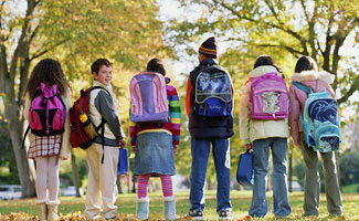 Image result for kids carrying backpacks