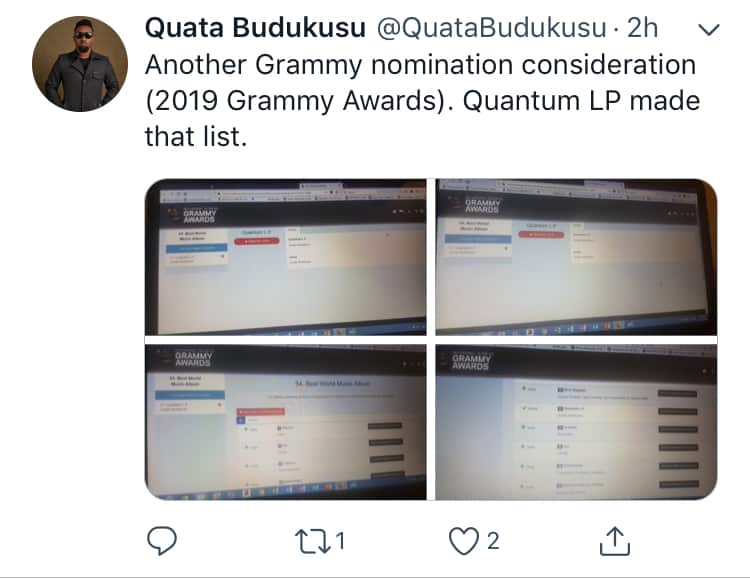 Quata Budukusu‬, 2019 Grammy Awards, Grammy