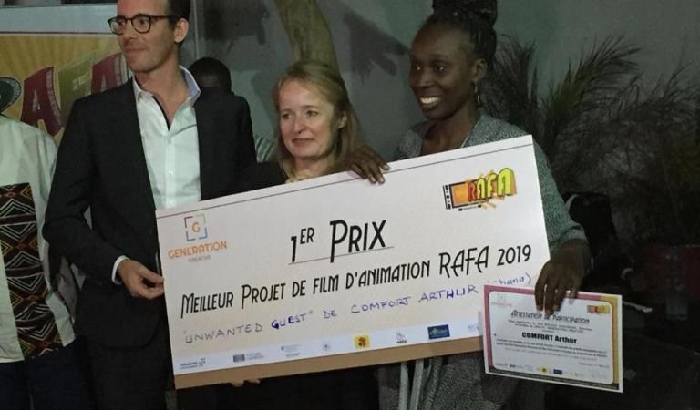 Photos: Ghanaian Female animator awarded at FESPACO Film Festival in Burkina Faso