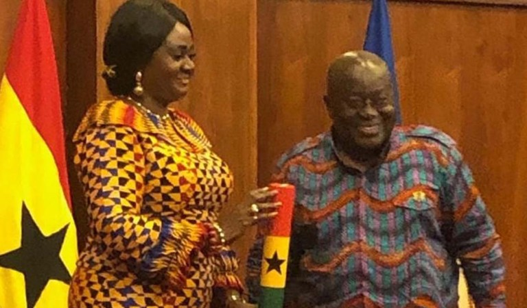 Photos: Nana Akufo-Addo swear-in Hon. Barbara Oteng-Gyasi as Minister for Tourism, Culture and Creative Arts
