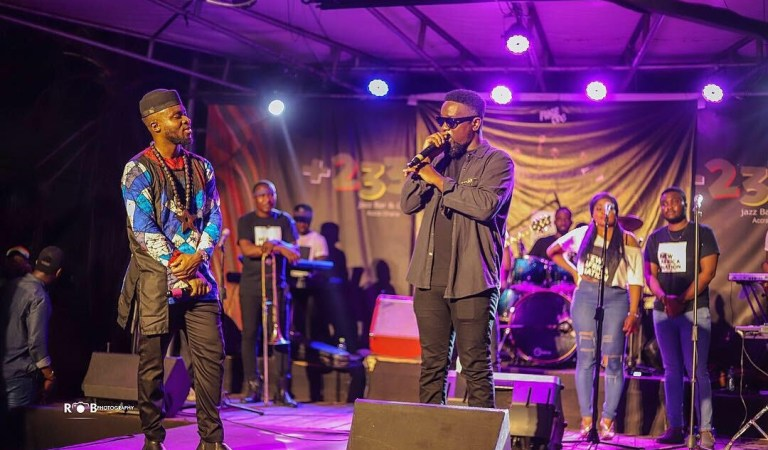 Video: Sarkodie advices Fuse ODG at New Nation Album Concert