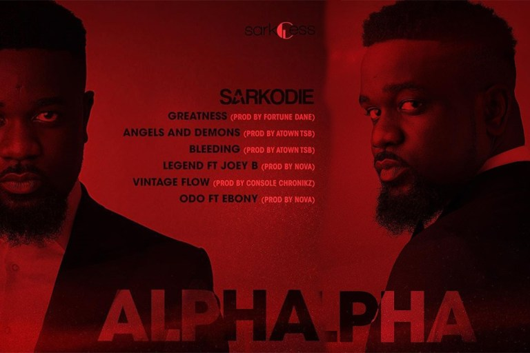 """Out Now: Sarkodie release tracklist for new tape """"#Alpha"""" 1"""