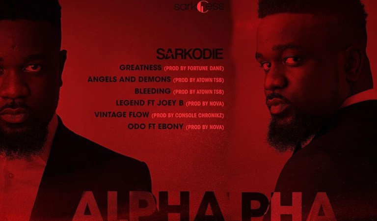 """Out Now: Sarkodie release tracklist for new tape """"#Alpha"""""""